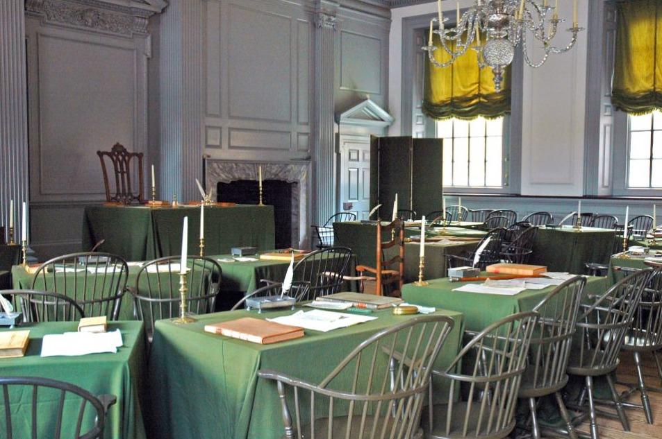 Zaal waar de Conventie van Philadelphia plaatsvond