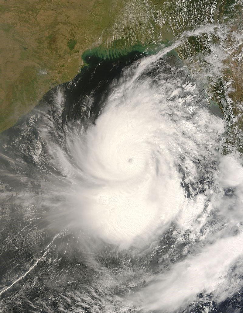 Cycloon Nargis op 1 mei