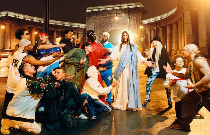 David LaChapelle, Jesus is my homeboy: Sermon, 2003. Portland LA, Studio David LaChapelle