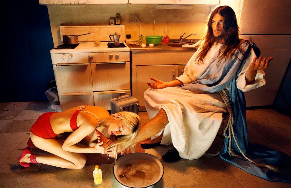 WASH-091David LaChapelle, My Homeboy: anointing, 2003. Courtesy Studio David LaChapelle