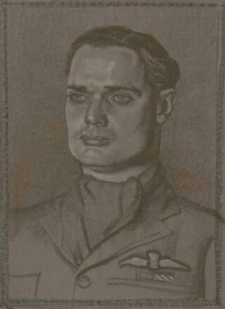 Douglas Bader geportretteerd door Eric Kennington, 1940