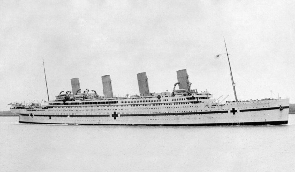 Hospitaalschip HMHS Brittanic tijdens de Eerste Wereldoorlog