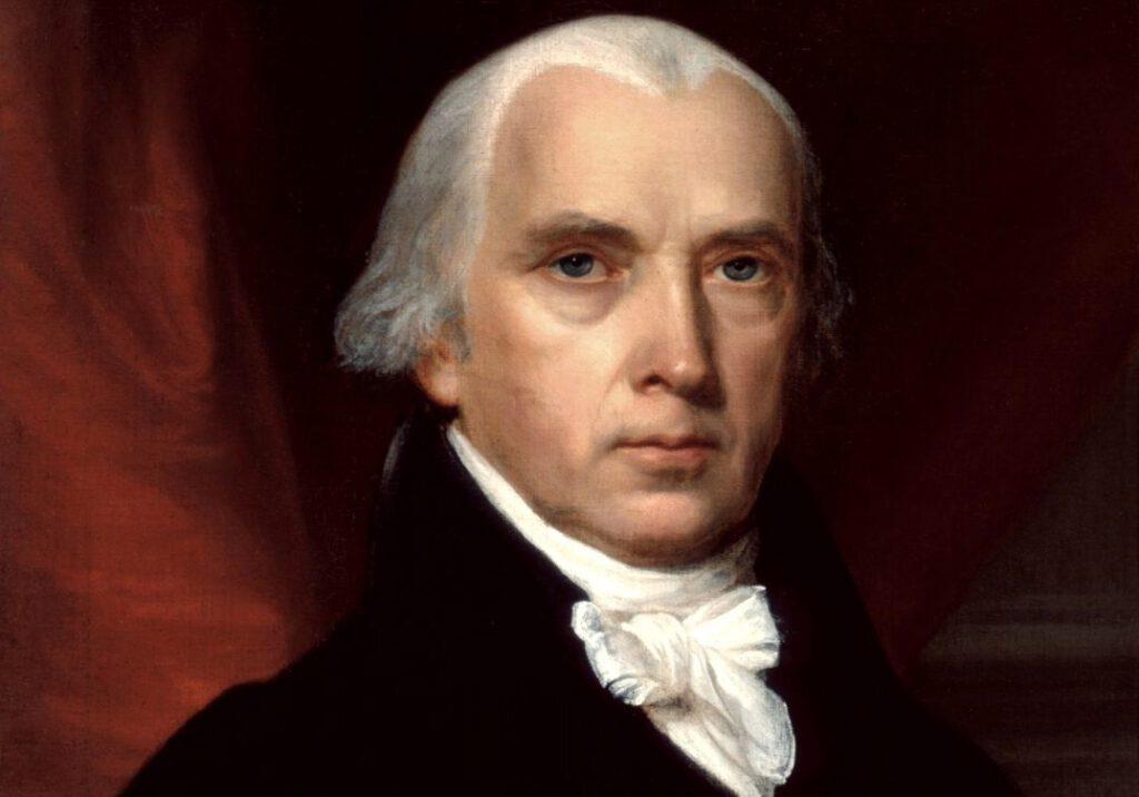 Portret van James Madison - John Vanderlyn, 1816