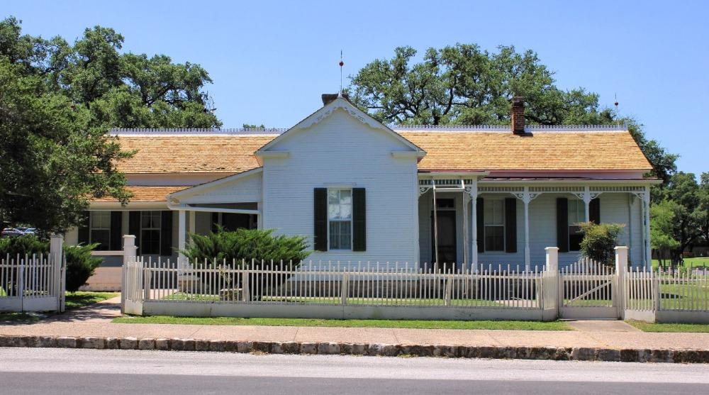 Woning in Texas waar Lyndon B. Johnson opgroeide