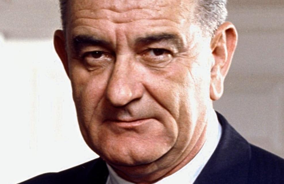 Fotoportret van Lyndon B. Johnson, 1964