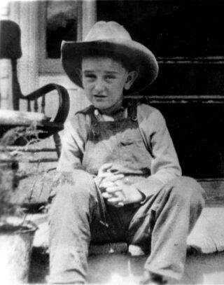 Lyndon Baines Johnson op zevenjarige leeftijd