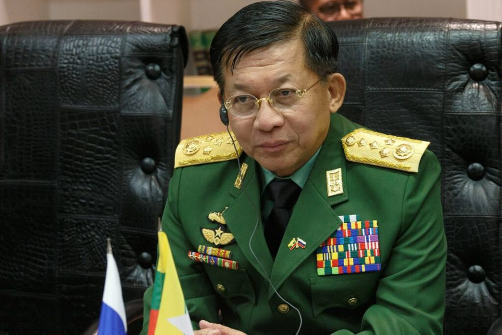 Min Aung Hlaing in 2019