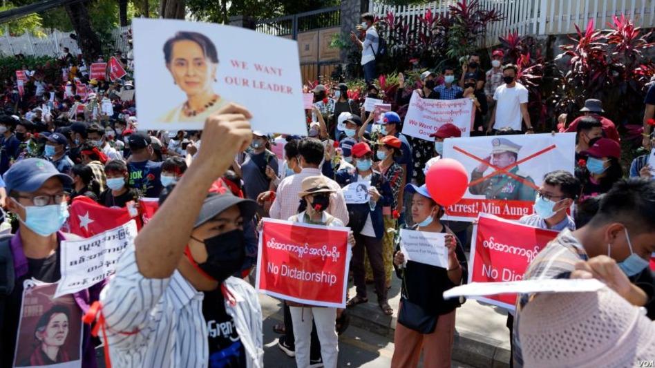Protesten na de staatsgreep in Myanmar, februari 2021
