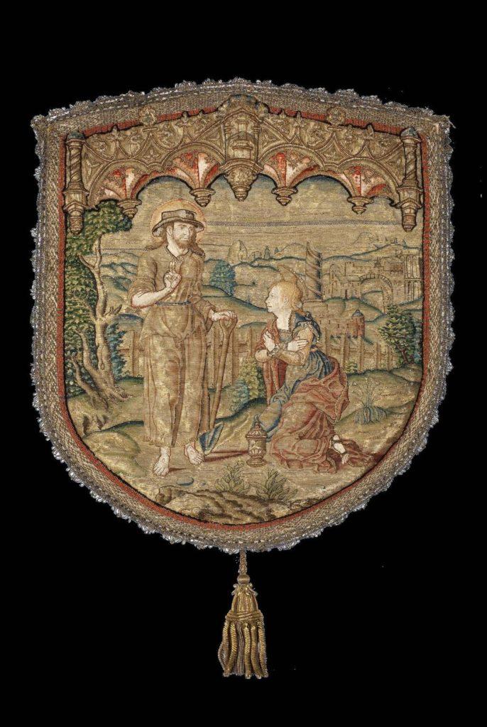 Noli Me Tangere, Koorkapschild, ca. 1540-1550. Gouda, Oud Katholieke Parochie H. Johannes de Doper. Foto Ruben de Heer