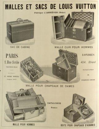 Reclame voor Louis Vuitton koffers, juli 1898
