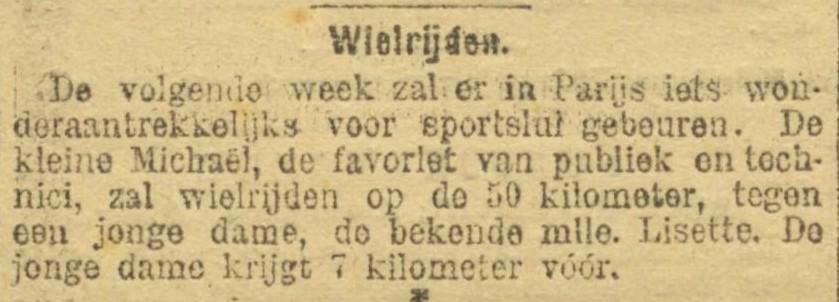 Bericht uit De Amsterdammer, 1896 (Bron: Delpher)