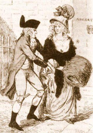 'Monster van Londen' in actie. Tekening uit 1790
