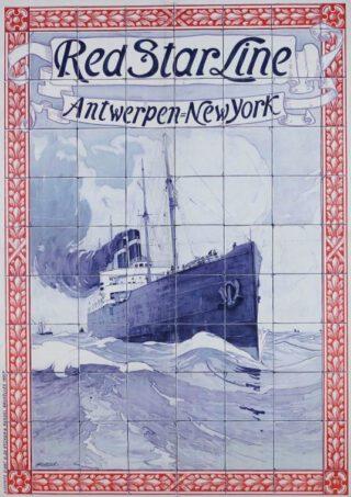 Affiche van de Red Star Line (Henri Cassiers 1901)