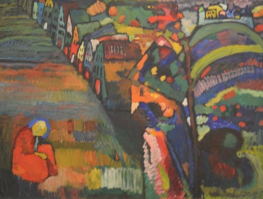 Bild mit Häusern - Wassily Kandinsky, 1909