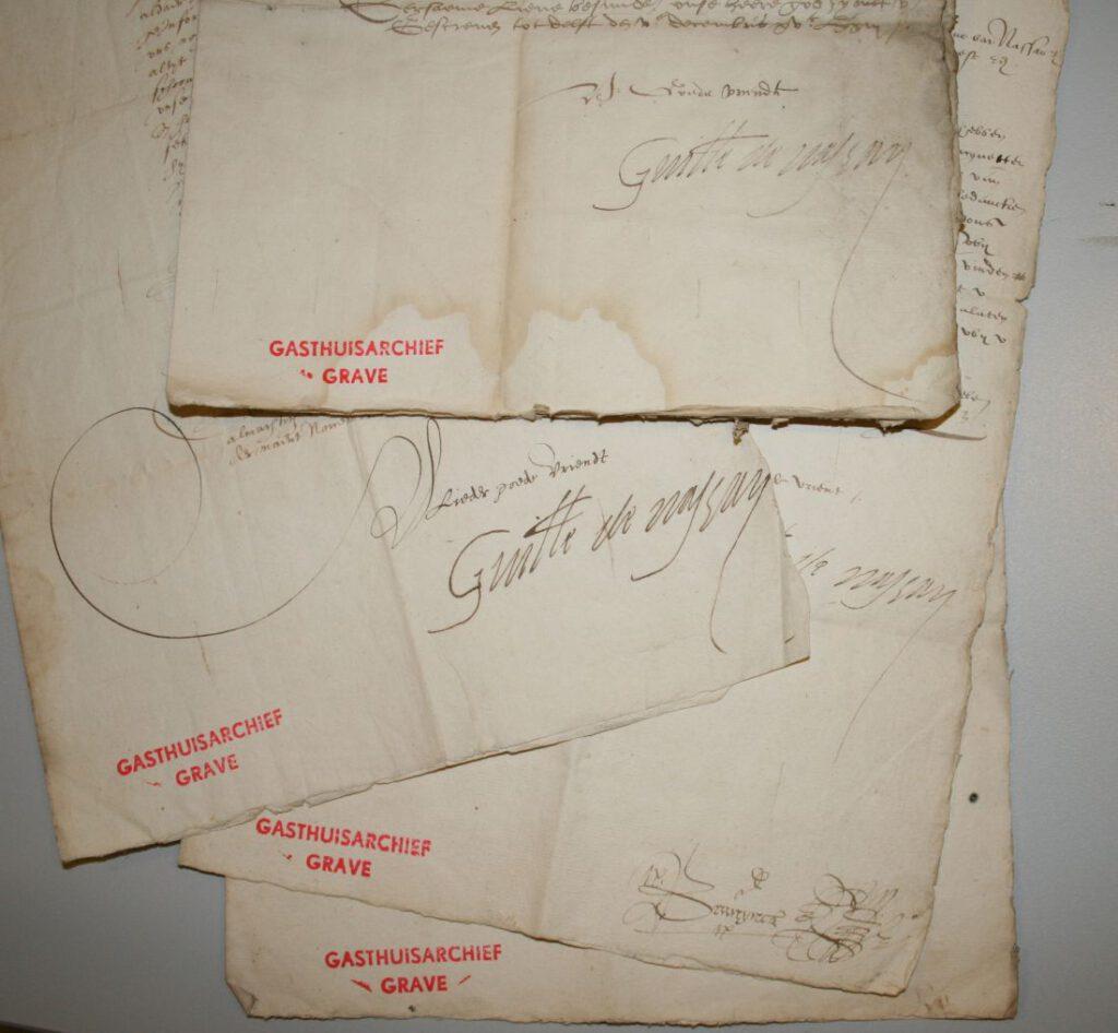 Brieven met handtekeningen van Willem van Oranje, Archief van het Sint-Catharinagasthuis (1291-1965), BHIC   img 6598