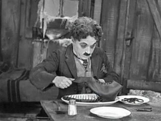 Charlie Chaplin in The Gold Rush, 1925