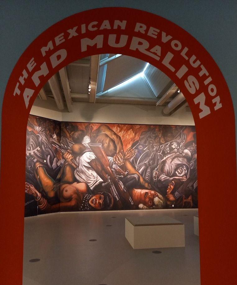 Zaalimpressie Cobra Museum, Mural naar Jose Clemente Orozco, Foto Marina Marijnen