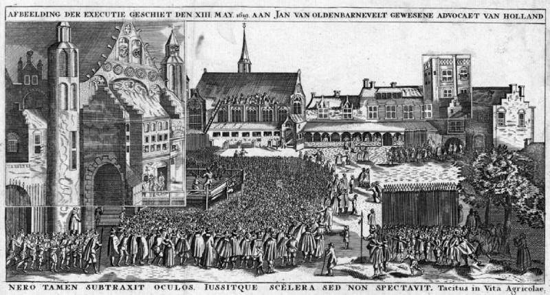 De onthoofding van Johan van Oldenbarnevelt, 1619