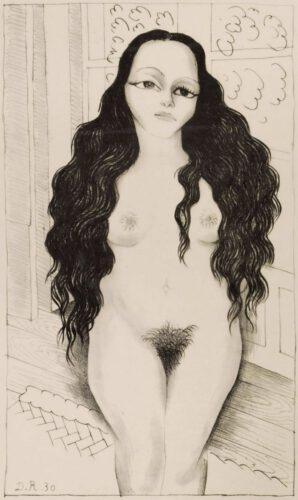 Diego Rivera, Naakt met lang haar (Dolores Olmedo), 1930