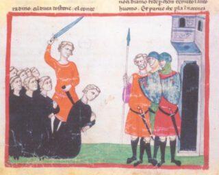 Executie van Conradin - Giovanni Villani, Nuova Cronica, 14e eeuw