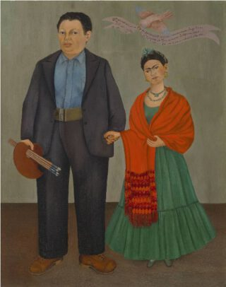 Frida Kahlo, Frieda and Diego Rivera, 1931 Collection SFMOMA Albert M. Bender Collection, gift of Albert M. Bender Copyright© Banco de Mexico Diego Rivera & Frida Kahlo Museums Trust, Mexico, D.F. / Artists Rights Society (ARS), New York
