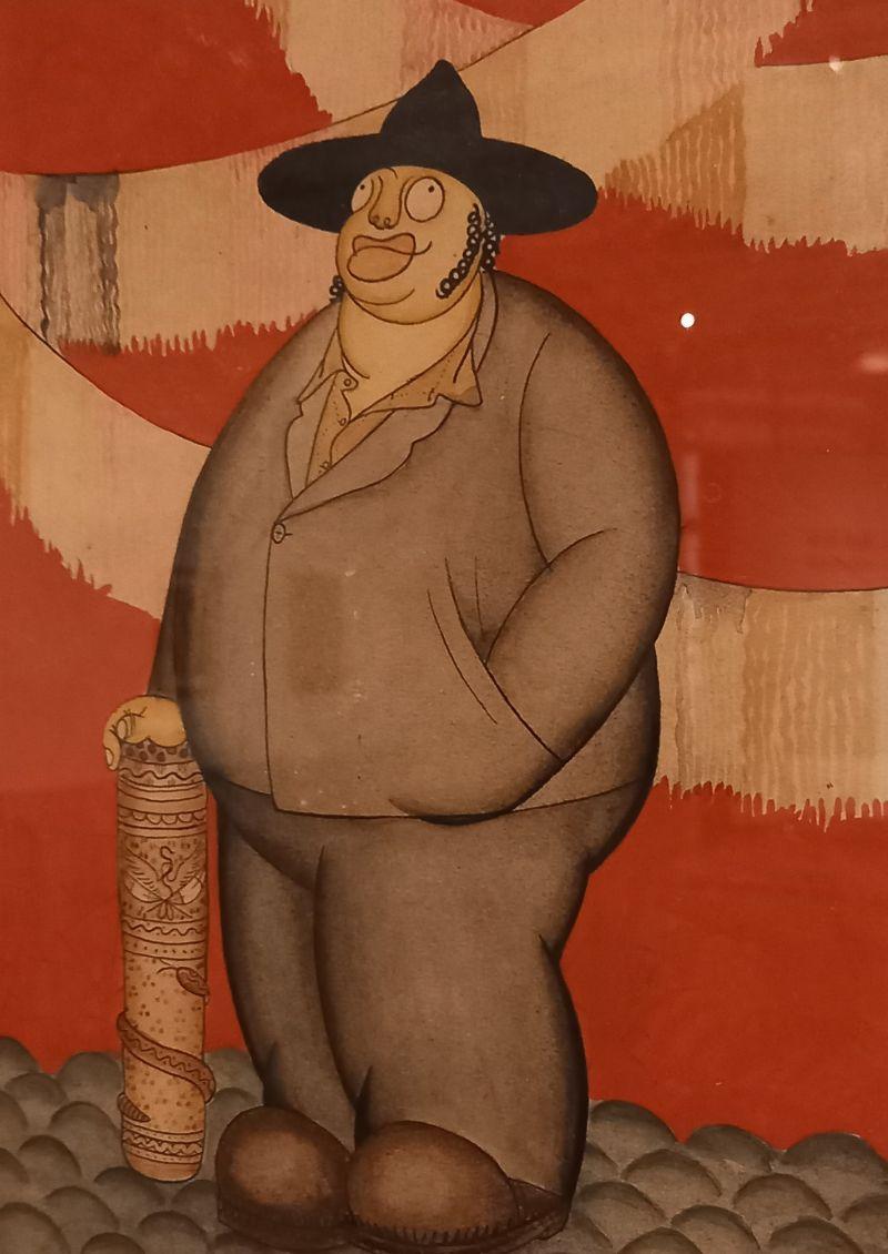 Miguel Covarrubias, Portret van Diego Rivera, ca. 1929. Aquarel op papier. The Jacques and Natasha Gelman Collection of 20th Century Mexican Art and the Vergel Foundation. Foto Marina Marijnen