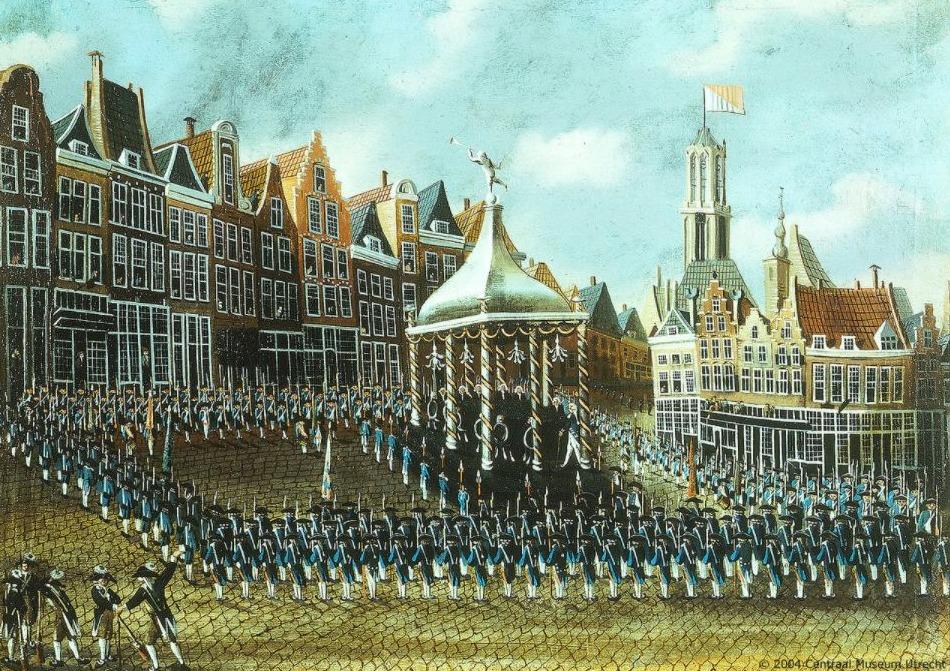 Patriotten op de Neude in 1786
