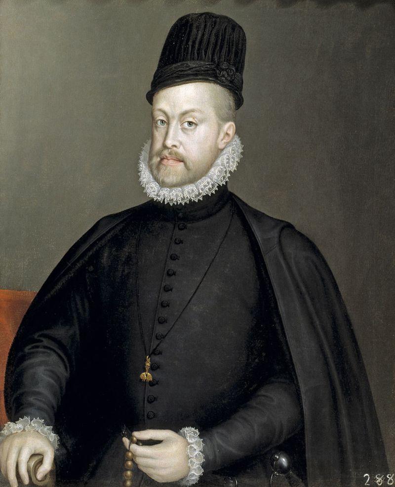 Portret van Filips II van Spanje, tegenwoordig toegeschreven aan Sofonisba Anguissola, 1573