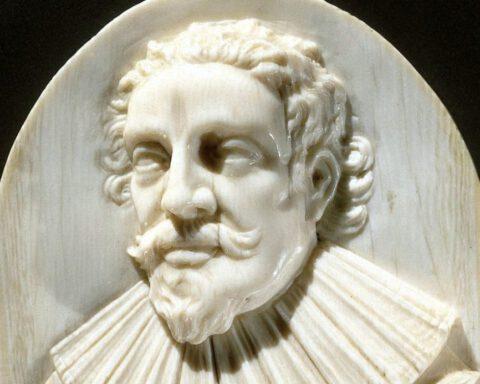 Portretmedaillon van Hugo de Groot, anoniem, 1600 - 1699