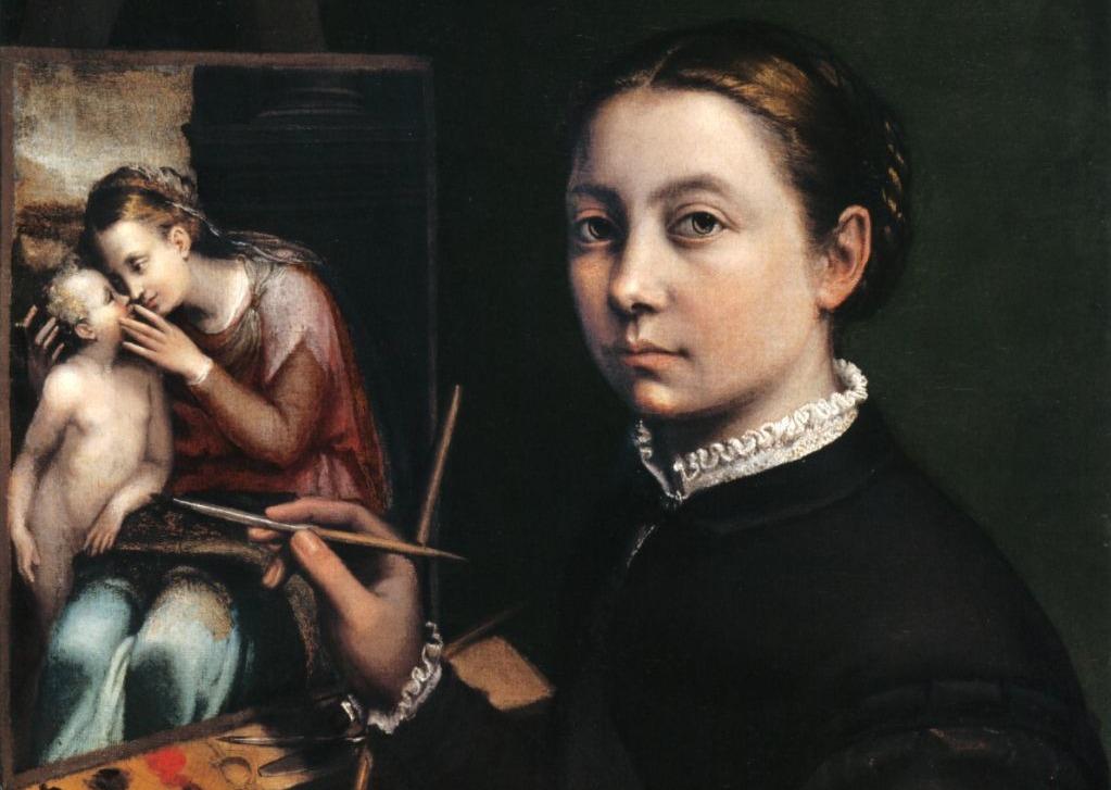 Sofonisba Anguissola, zelfportret, 1556