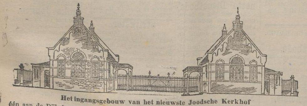 Illustratie van het ingangsgebouw in het Rotterdamsch Nieuwsblad van 14 juni 1894.