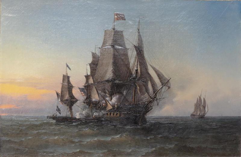 Verovering van de Triton - Schilderij van Léon Trémisot