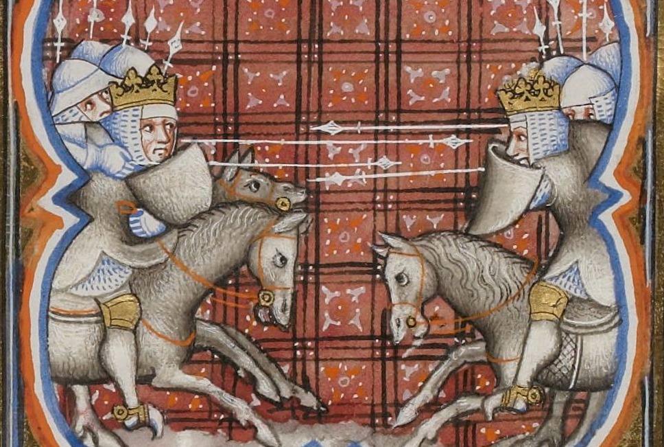 Verbeelding van de veldslag bij Benevento