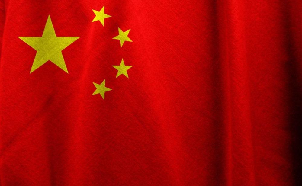 Vlag van China met vijf gele sterren