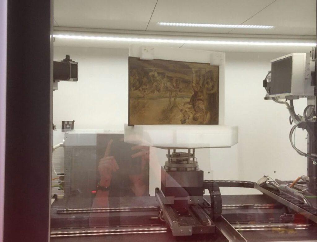 Paneelschilderij 'Cadmus slaat de vechtende krijgers gade'