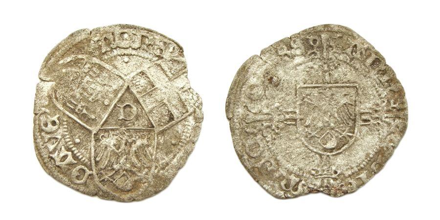 ½ Stichtse Stuiver of 'butken', geslagen in Deventer in 1488