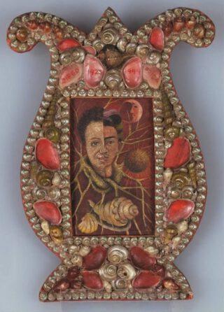 Frida Kahlo (1907-1954), Diego en ik, 1944, olieverf op masoniet, 12,3 x 7,4 cm, Courtesy of Galería Arvil © 2021 Banco de México Diego Rivera & Frida Kahlo Museums Trust, Mexico Stad/ reproductie toegestaan door het Instituto Nacional de Bellas Artes y Literatura, 2021