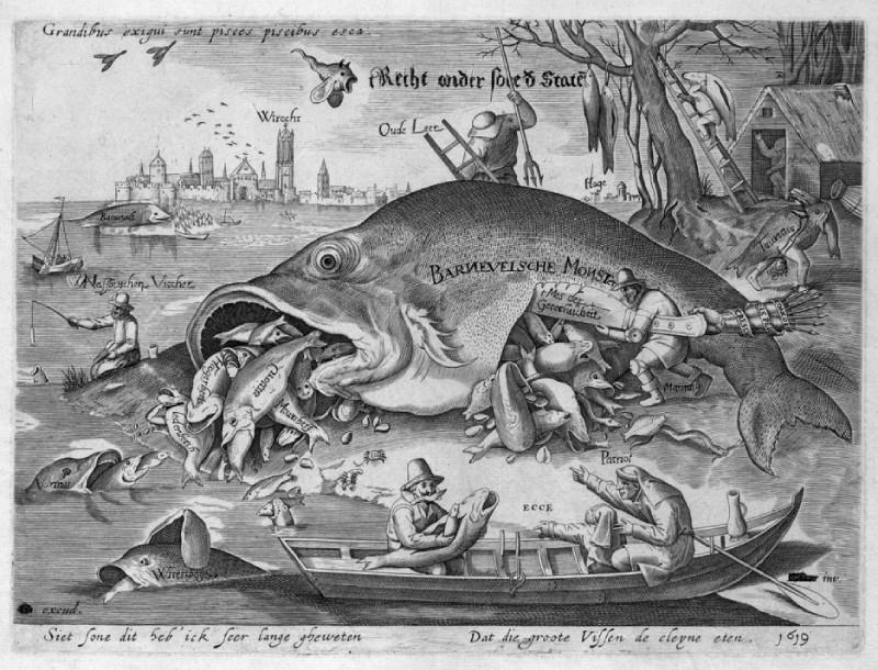De grote vissen eten de kleine, 1619