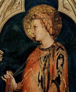 De heilige Elisabeth van Thüringen - Schilderij van Simone Martini, veertiende eeuw