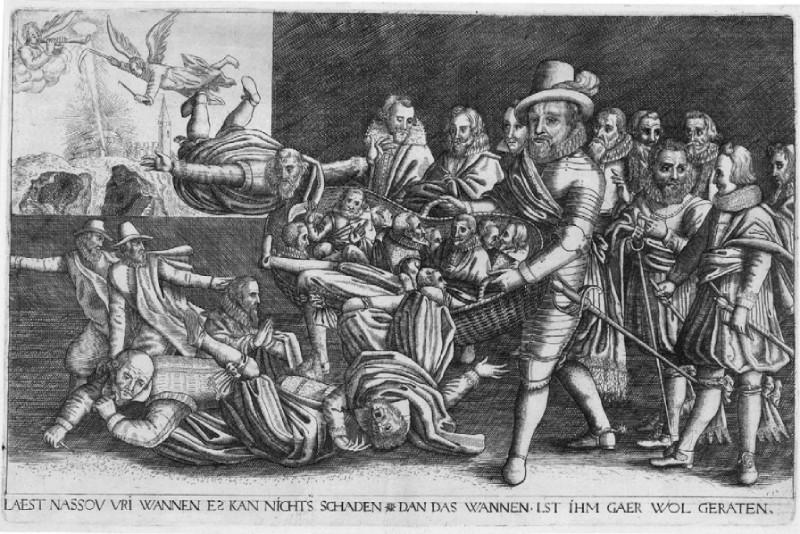 Maurits scheidt het kaf van het koren, 1618