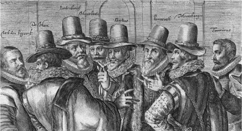 Spotprent op Johan van Oldenbarnevelt en zijn medestanders, 1618
