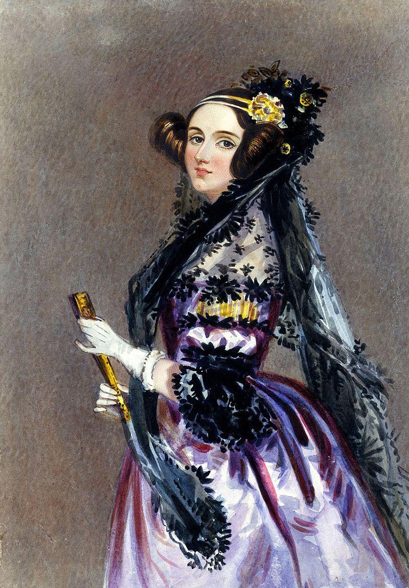 Aquarel portret van Ada Lovelace - Alfred Edward Chalon, ca. 1840
