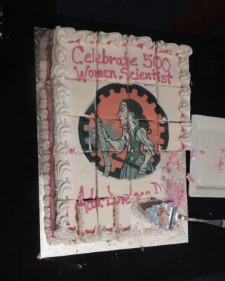 Aangesneden cake tijdens de viering van Ada Lovelace Day in Philadelphia, 2019