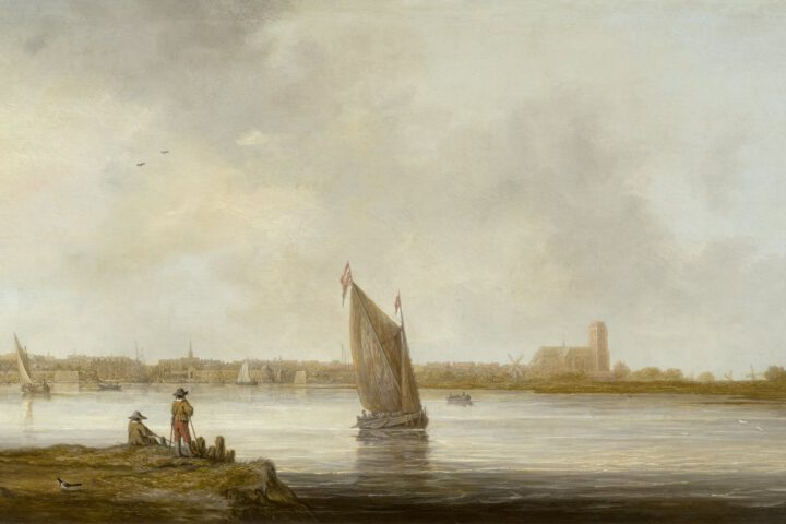'Gezicht op Dordrecht' - Museum der bildenden Künste, Leipzig, Aelbert Cuyp (ca. 1644-45)