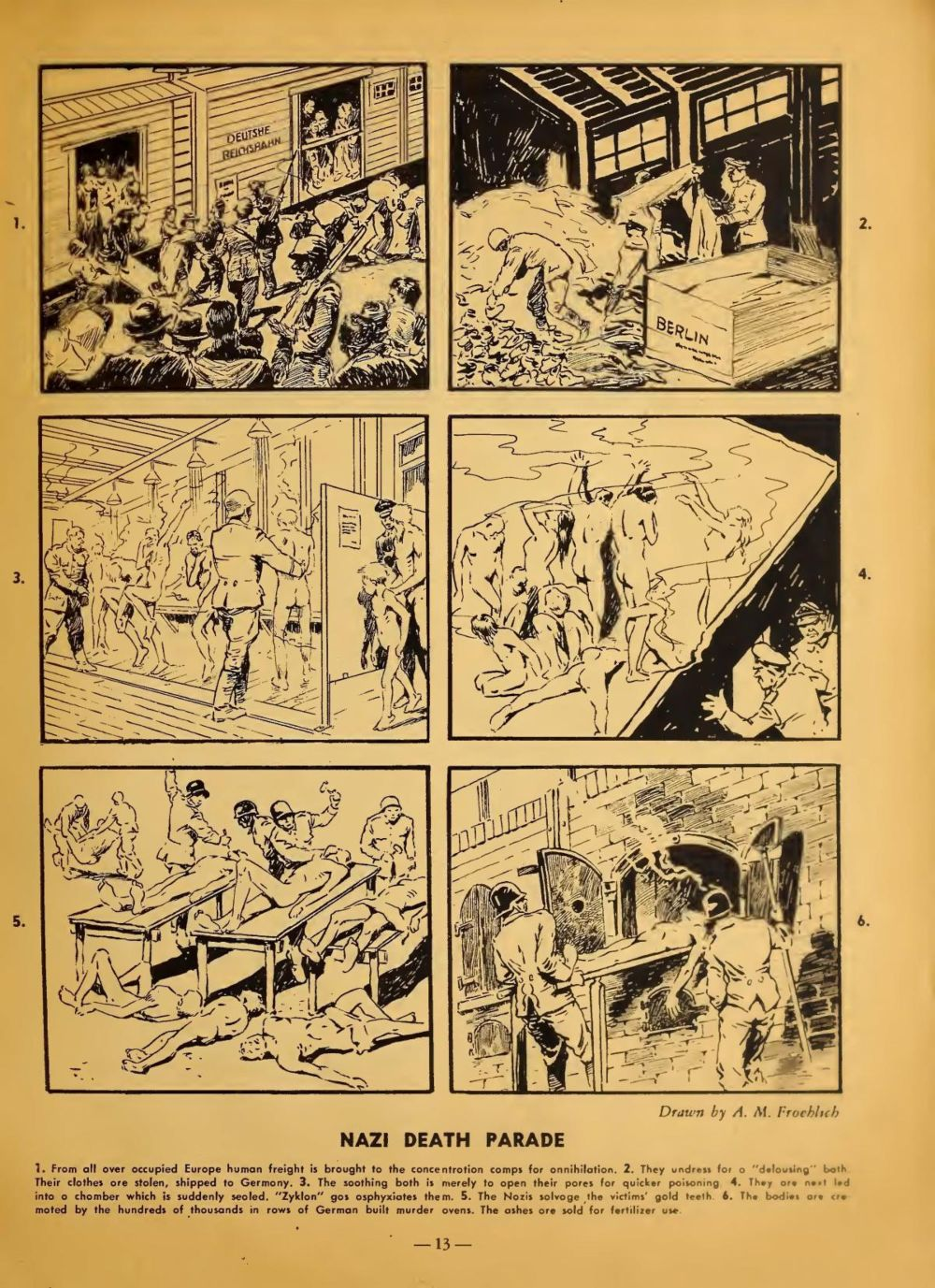 August M. Froehlich_Nazi Death Parade_ The Bloody Record of Nazi Atrocities © Arco Publishing Company NYC 1944-1945