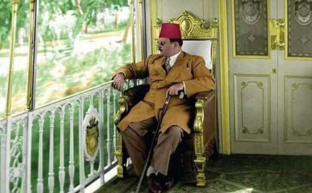 Farouk I in de koninklijke trein, 1947