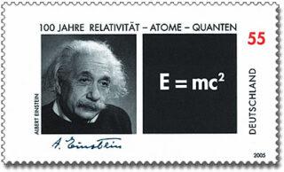 Portret dat Fred Stein maakte van Albert Einstein op een Duitse postzegel uit 2005