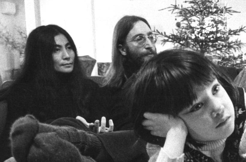 John Lennon en Yoko Ono tijdens hun bezoek aan Denemarken, 1970