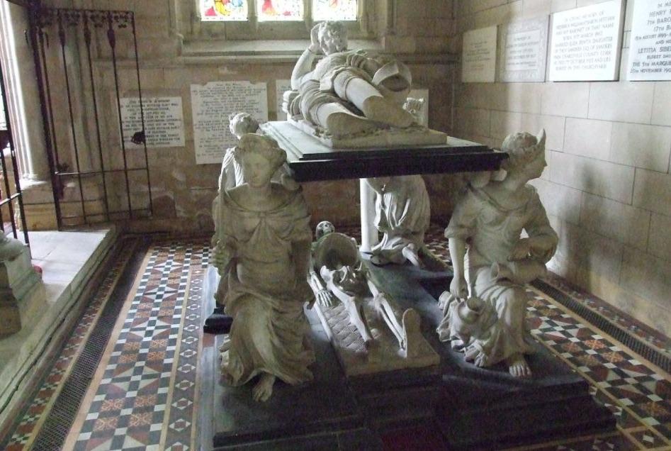 De vier kardinale deugden verbeeld op de tombe van Sir John Hotham