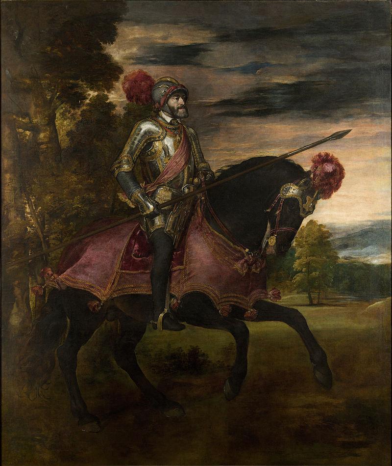 Schilderij dat Titiaan maakte ter ere van de zege van Karel V tijdens de Slag bij Mülberg